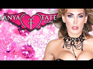 Tanya tate plays with pussy in stockings lingerie