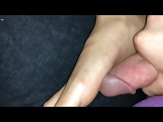 Cumming on her feet