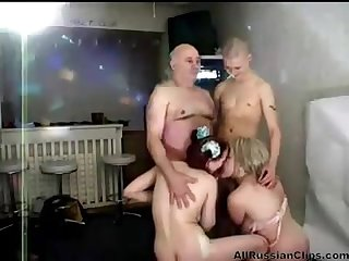 Young n old orgy swingers