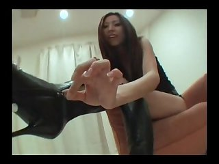 Japanese boots and feet tease