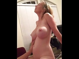 Milf with awesome tits riding his dick amateur cool