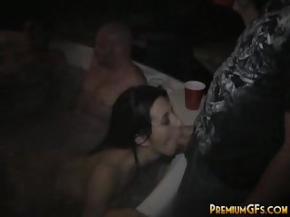 Teen in hardcore partying
