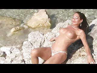 Outdoor milf showing off her tits Julia reaves