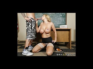 Brazzers milf leigh sucks her student S dick
