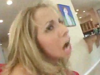 Tight pussy fuckstar Ashley drilled on the couch