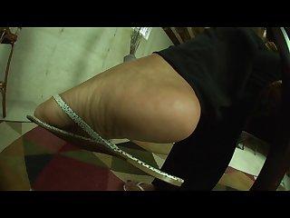 Ebony goddess shoshanna size 11 flip flop tease