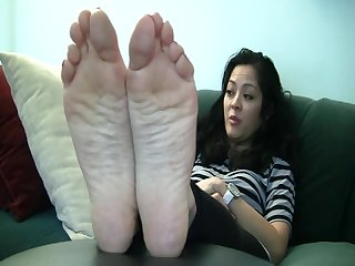 Long latin toes soles red tips