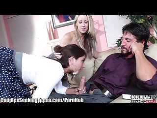 Jynx maze 3way with horny husband and milf