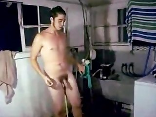 Shower spycam naked males