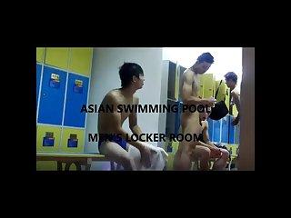 Asian swimming pool men locker room