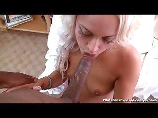 White Chick Enjoys Black Cock