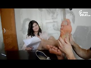 Boss S big feet worship