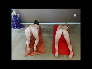 Doing yoga naked with my sister emma banks