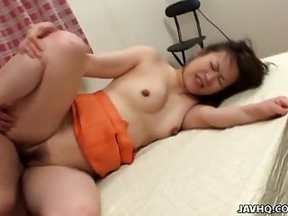 Slutty asian mature broad getting fucked in her vagina