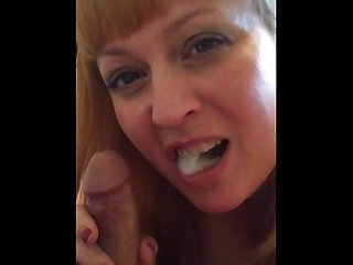 Cum in wife s mouth while watching porn