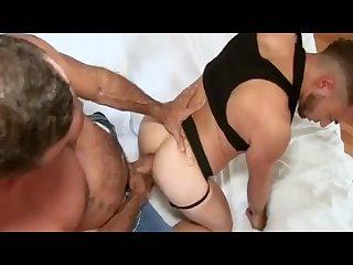 Huge cock suck and bareback ass fucking