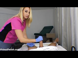 Nurse sierra edges you her helpless patient