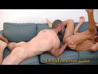 Hairy daddy fucks his b y