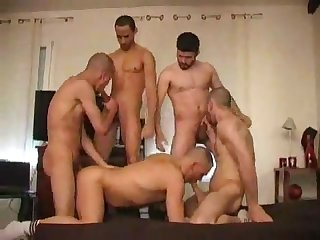 Group fuck in white socks