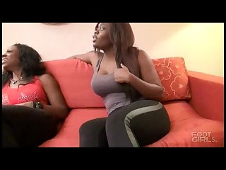 Foot stool slave for ebony goddess s perfect feet