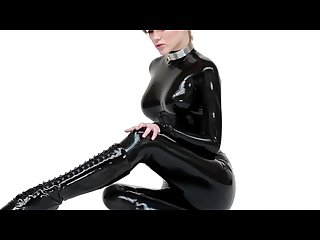 Lucy latex in latex catsuit and ballet boots