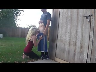 Back yard blowjob ourdirtylilsecret