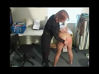 Sexy blonde british girl gets spanked while masturbating