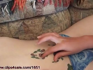 Two girls playing with their belly buttons n 4