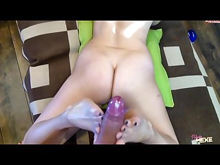 Blonde hexe footjob