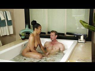 Ebony nuru massage