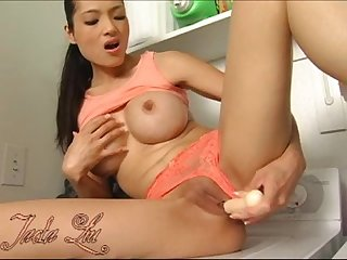 Big fake tits asian masturbate