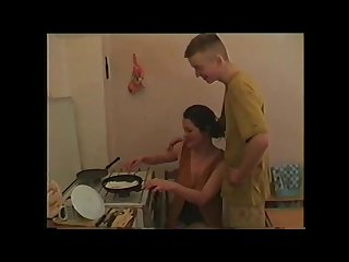 Russian mother with her step son 2