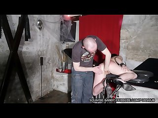 French submissive slut fisting and spanking