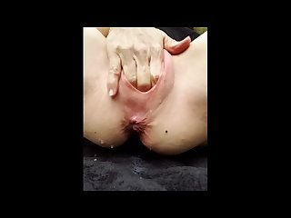 Pussy Torture with ruler and slapping and then hard and rough fingering