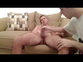 Hot dad gets sucked off by stepson