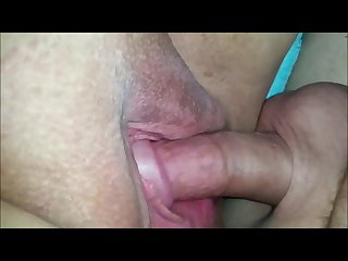 Fucking and cumming on a bbw pussy closeup