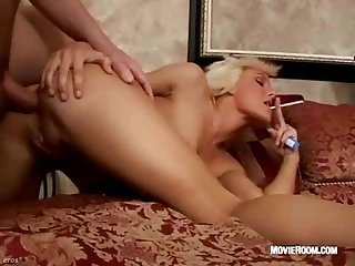 Angel smoking fucked in ass
