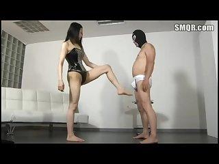 Japanese mistress Ballbusting femdom