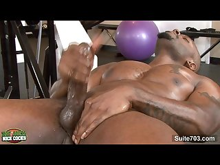 Amazing black gay jock with tattoed body diesel washington masturbating