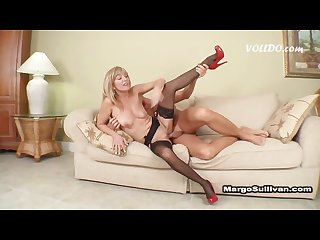 Mature lady fucks son
