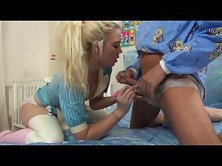 Nurse riley jerk off and diapers baby