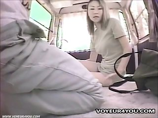 Self shot van sex