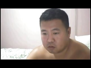 Chinese cute daddy jerking off