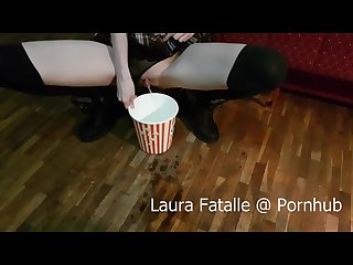 Step sister got2pee while watching tv Laura fatalle 60fps