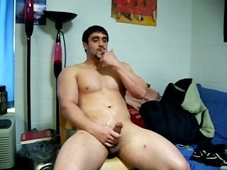 Jock taste cum in his dorm