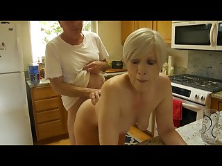 Wife fucking in kitchen