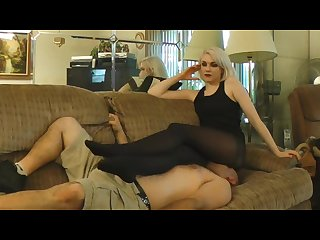 Anna Evans facesit smother on couch pt2