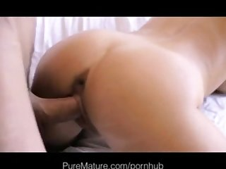 Puremature hot blonde shaved mom craves attention