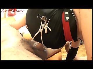 Dental gag throat diving hard fucking whipping cumming nasty slave slut
