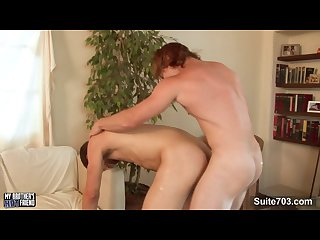 Long haired redhead gay james jamesson gives blowjob and gets fucked